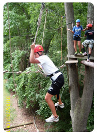 In Action - High Ropes Line